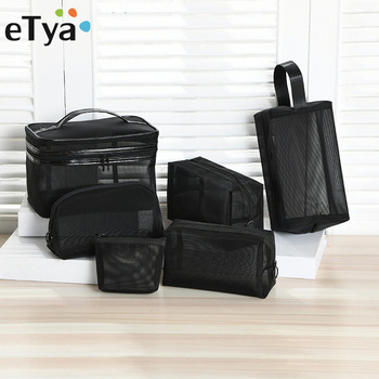 eTya Mesh Transparent Makeup Bag Men Women Small Large Travel Cosmetic Organizer Case Necessaries Make Up Wash Toiletry - discount item  40% OFF Special Purpose Bags