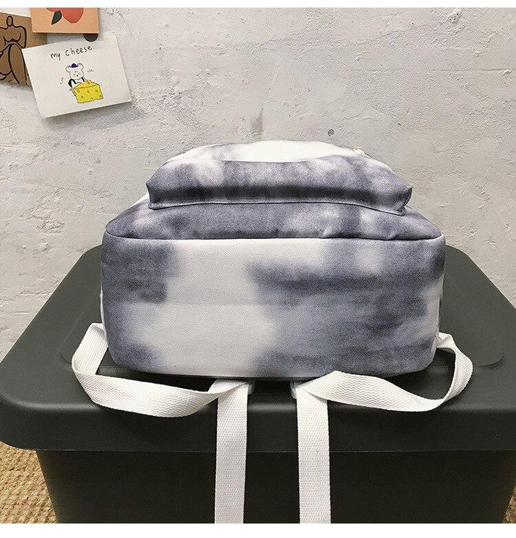 moda gradiente mochila para adolescente