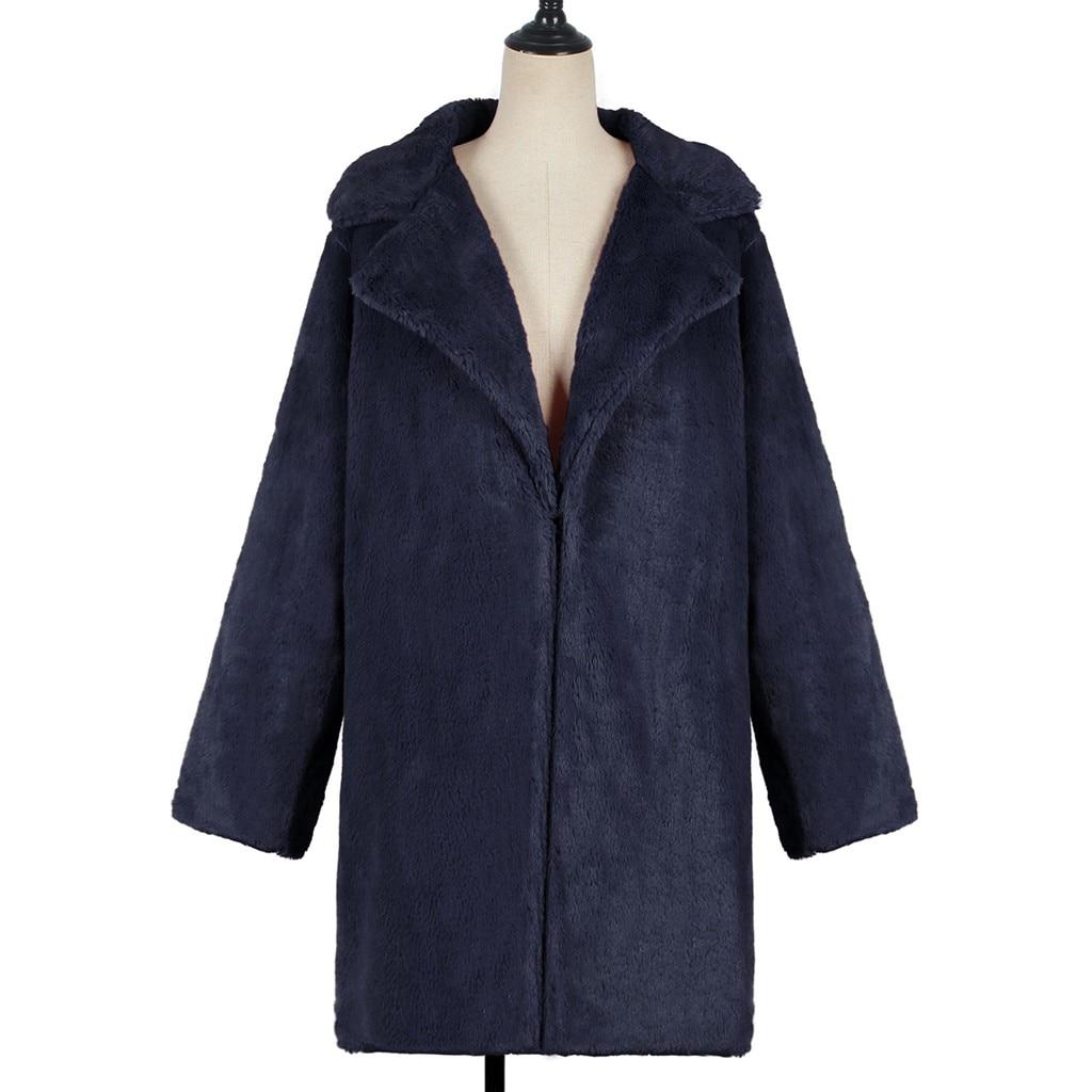 Hb0df301c42ff42bf9d00ad58e6f85de19 New Winter Womens Faux Fur Long Outwear Coat Warm Fleece Thick Jacket Ladies Long Plus Size Cardigan Overcoat