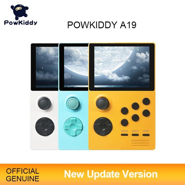 POWKIDDY A19 باندورا صندوق أندرويد Supretro وحدة تحكم بجهاز لعب محمول IPS شاشة مدمج 3000 + ألعاب 30 ثلاثية الأبعاد ألعاب جديدة واي فاي تحميل