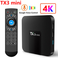4K TV Box TX3 mini Amlogic S905W Quad Core WiFi Media Player Android 8.0 TV Box 16GB supporto Netflix H.265