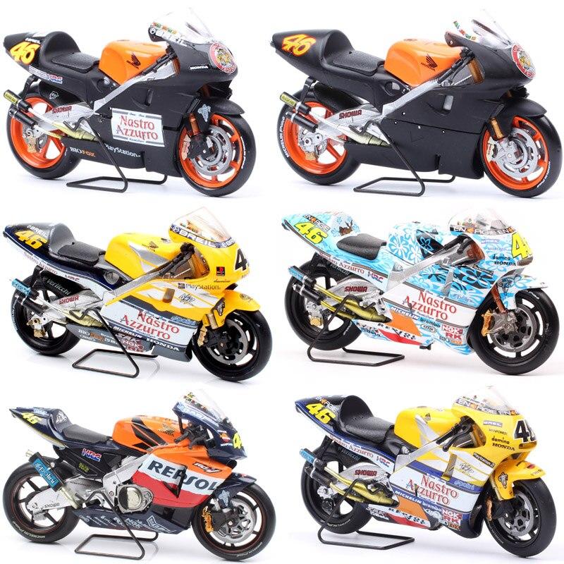 1/18 Scale Honda NSR 500 World Championship Mugello Test Valencia Jerez Bike Racer #46 Motorcycle Models Rossi Diecast Moto Toys