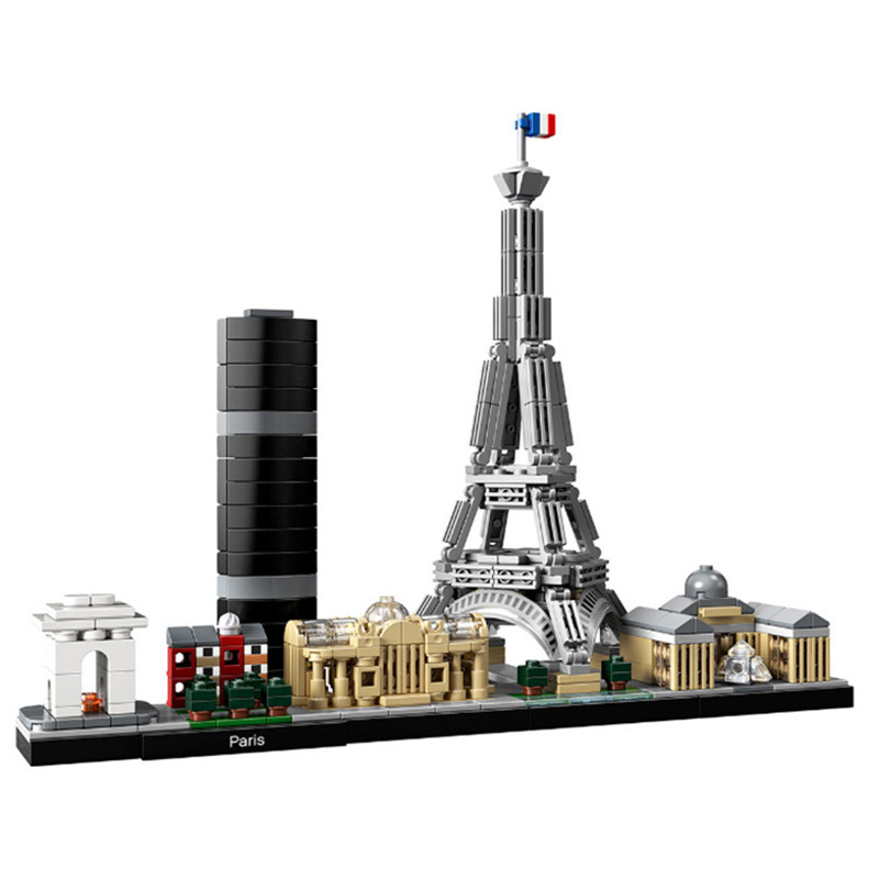 Lepinblock Architecture Skyline Collection Paris Dubai City Building Blocks Kit Bricks Classic Model Kids Toys For Children Gift