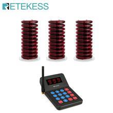 Restauracja Pager Retekess T119 z 30 odbiornikami Pager bezprzewodowy System wywołujący wyposażenie restauracji System przywoławczy kelnera tanie tanio CN (pochodzenie) 433 92MHz Flash Bell Vibration optional high quality PC 001-999 Built-in 3 7V lithium battery call bell