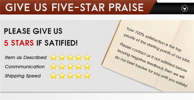 Give us five-star praise