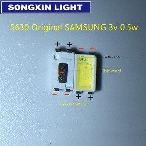 Image 1 - 2000 pces para samsung led backlight 0.5w 3v 5630 branco fresco lcd backlight para tv aplicação spbwh1532s1zvc1bib