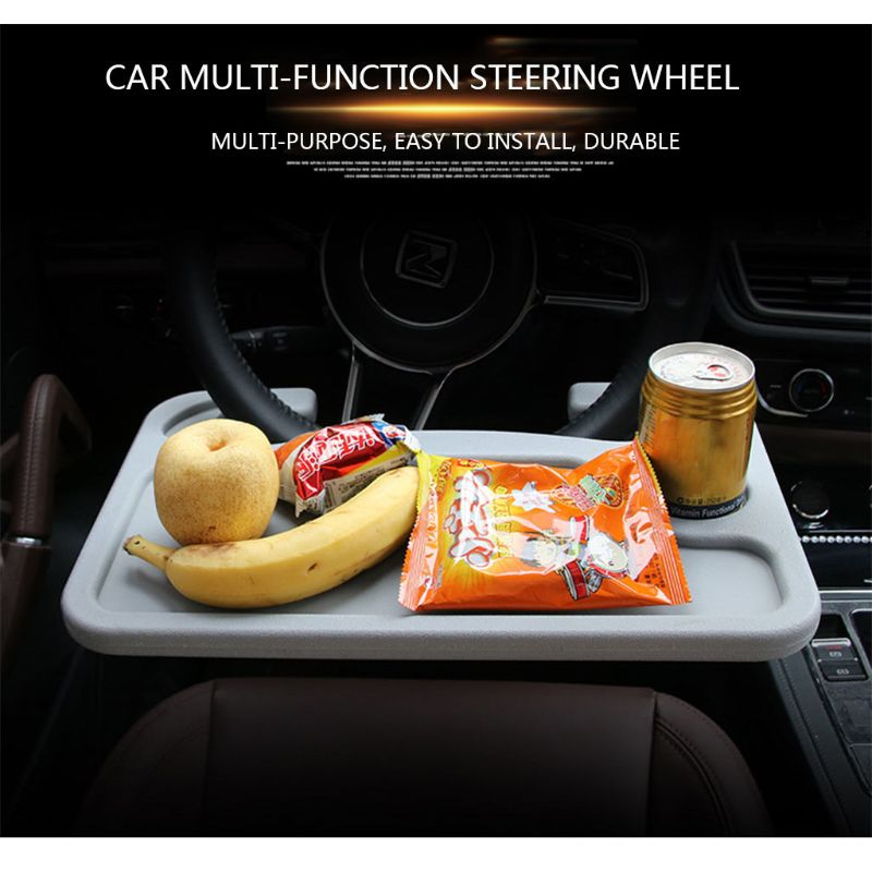 Steering Wheel Table Car Desk Coffee Holder Laptop Universal Portable Eat Tray 19QD