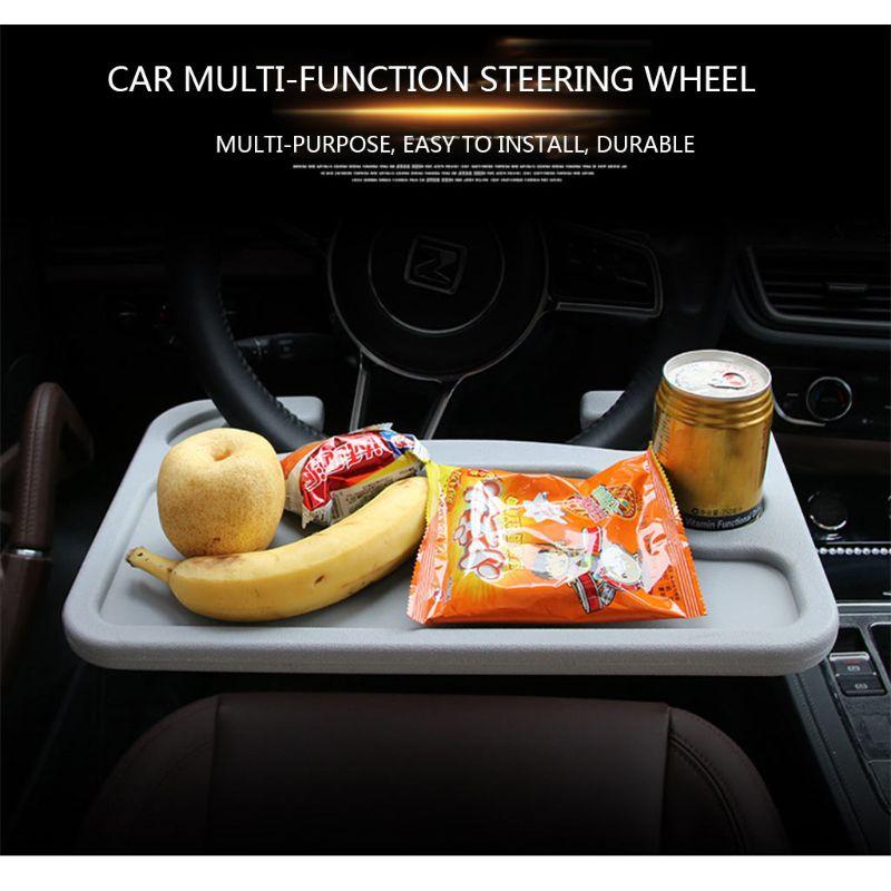 Steering Wheel Table Car Desk Coffee Holder Laptop Universal Portable Eat Tray 19QD