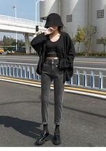 Зимние женские джинсы до щиколотки 2020 бархатные теплые шаровары