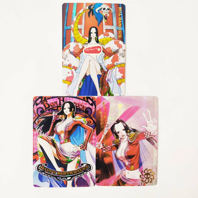 3pcs/set One Piece Boa Hancock Nami Sexy Beauty Sexy Girls Hobby Collectibles Game Collection Cards Limited