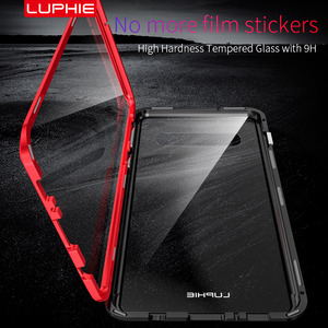 Image 2 - Luphie Full Wrapped Tempered Glass Magnetic Case for Samsung Galaxy S10 S10e S10 Plus 5G S9 Plus S9 Note 8 9 Magnet Phone Cover