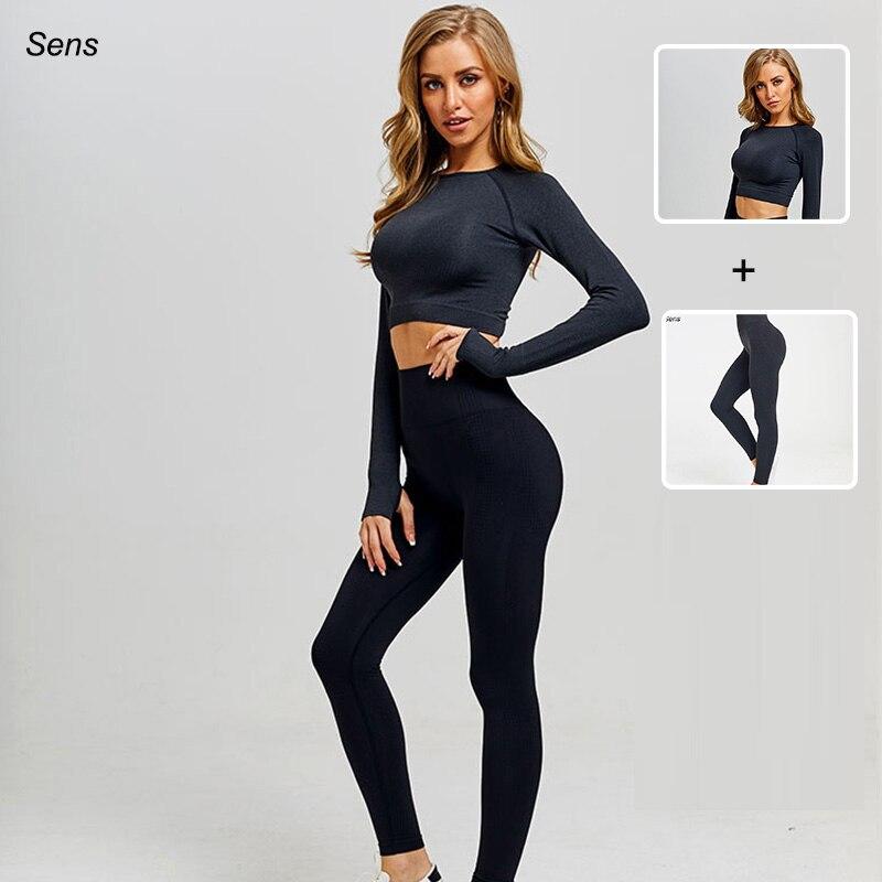 Hot Sale Women Gym Suit Yoga Leggings ropa deportiva mujer Women Sports Yoga Pants gym clothing Yoga Clothing Women Yoga Set 1