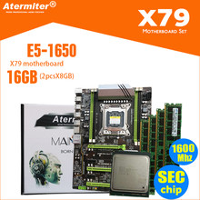 Atermiter X79 Turbo placa base LGA2011 ATX combos E5 1650 C2 (2 uds x 8 GB) 16GB 1600Mhz PC3 12800R PCI-E NVME M.2 SSD USB3.0(China)