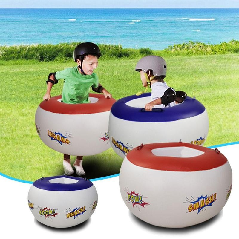 2pcs Inflatable Balls Fit Inflatable Balls Children Body Collision Bumper Soccer Game Toy Motor Skills Ball Outdoor Play Toys