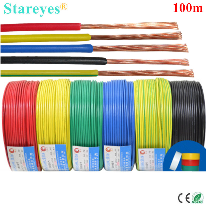 Free shipping 100 meters BVR Oxygen free copper Multicore <font><b>core</b></font> <font><b>wire</b></font> PVC Flame Retardant <font><b>wire</b></font> Electric cable AWG 1 <font><b>2</b></font> 4 5 7 10 13 image