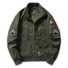 Jacket Overalls Pilot Air-Force Baseball-Uniform Retro Men Autumn Men's