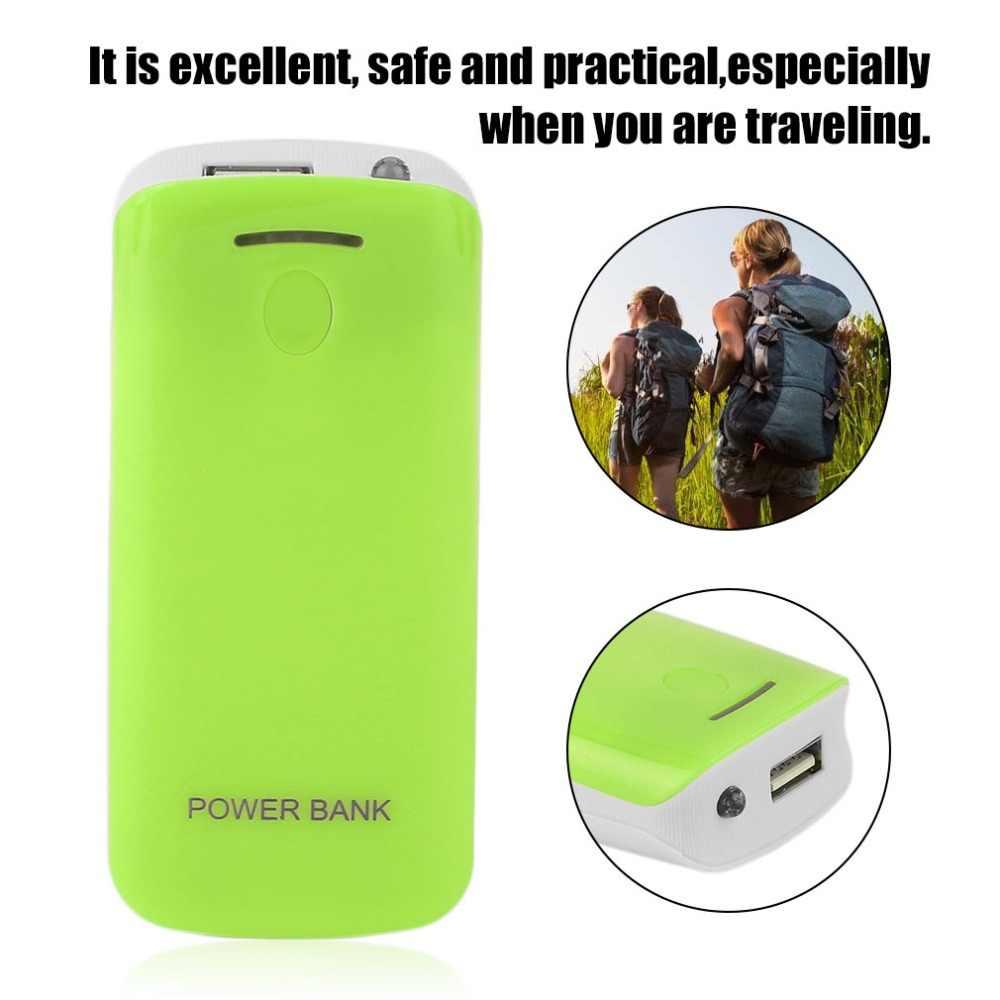 Creative עיצוב 5600mAh USB טעינה נייד חיצוני גיבוי סוללה מטען 2*18650 סוללה כוח בנק מקרה
