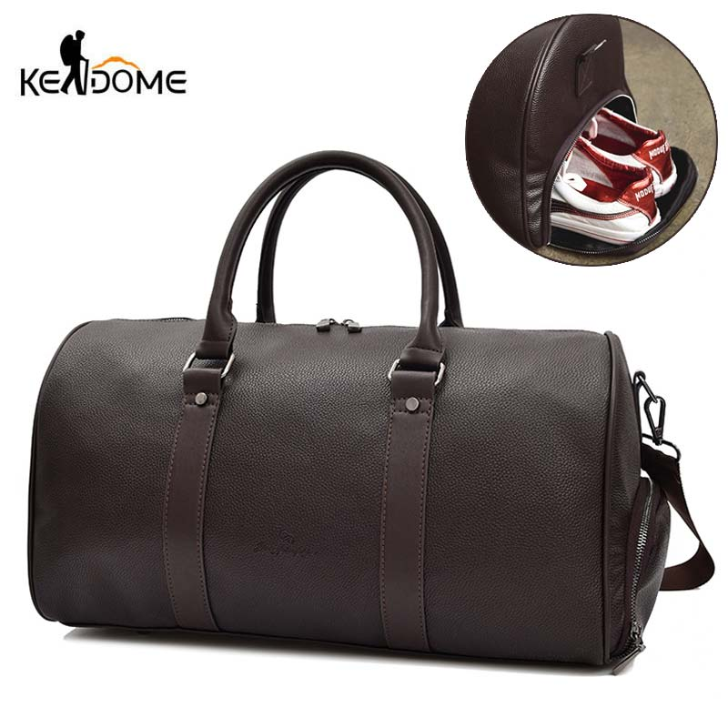 PU Leather Gym Bag Men Sports Bags For Women 2019 Sac De Sport Yoga Travel Fitness Sporttas Travelling Sportbag Gymtas XA227D