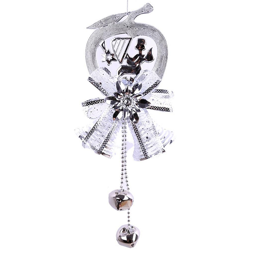 Рождественский колокольчик декоративная подвесная Елочная игрушка подвесное украшение домашний декор - Цвет: B