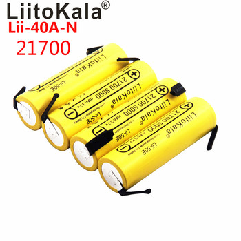 LiitoKala Lii-40A IMR 21700 3750mAh S30 18650 3000mAh 40A High Capacity Protected Flat Top Rechargeable Li-ion Battery+DIY Nicke image