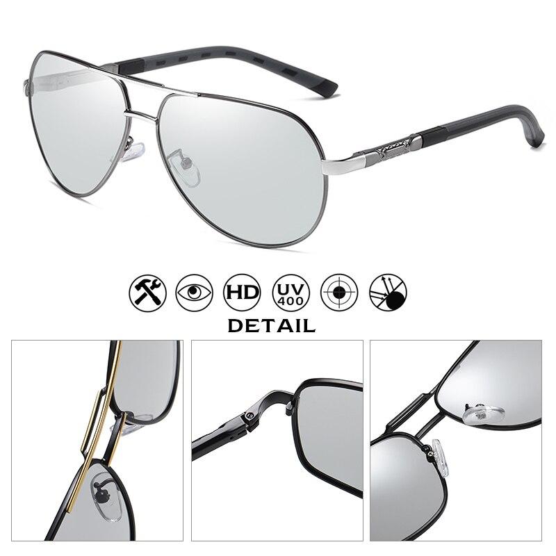 Image 3 - Fashion Design Pilot Sunglasses Men Polarized Safe Driving Glasses Photochromic Women Male Drivers Eyewear gafas de sol hombreMens Sunglasses   -