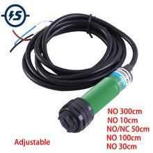 Sensor infravermelho npn do detector da distância nenhum interruptor fotoelétrico controlador de proximidade difusa dc 6v-36v