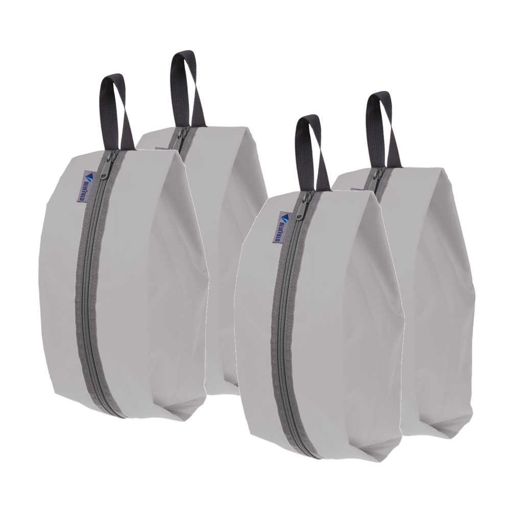 4 adet taşınabilir su geçirmez ayakkabı organizatörü Zip katlama çantası seyahat saklama çantası
