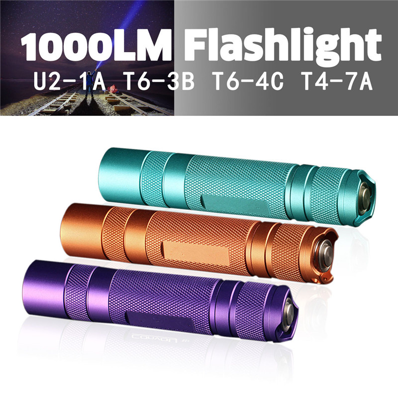 Convoy S2+ 7135*8 Driver L2 U2 T6 1100LM 3/5Modes Super Bright EDC Floodlight Flashlight For Camping LED Torch Lantern Lamp