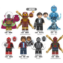 Building Blocks Spiderman Movie Far From Home Dolls Mysterio Maria Hill Hydro-Man Ned-Liz Figures Gift For Children Toys X0266