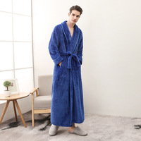 Pregnant woman Bath Robe Long Winter Thick Flannel Robe for Men and Women Plus Size Belt Bathrobe Long Sleeve Sleepwear Clothes