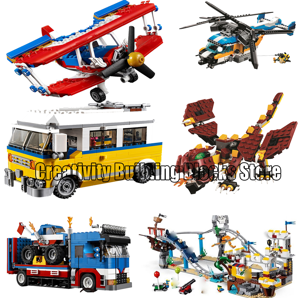 new Creator 3in1 Creative Blocks whole Serices Model Toys Building Blocks Kit Bricks Classic Model Toys For Children gift image