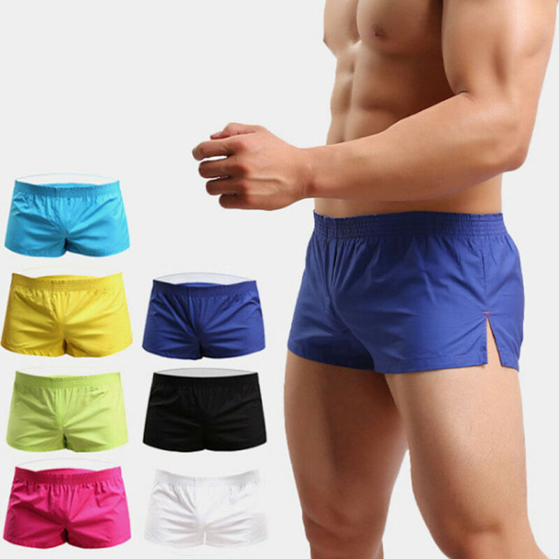 Mens Breathable Shorts Mens Gym Sports Running Sleep Short Pant Multicolored