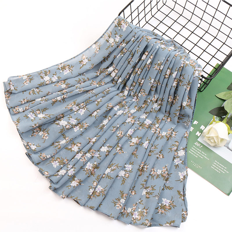 Image 5 - 115cm Printe chiffon Square hijab scarf chiffon wraps flower shawls muslim lightweight headband wraps islamic scarves 10pcs/lot-in Women's Scarves from Apparel Accessories