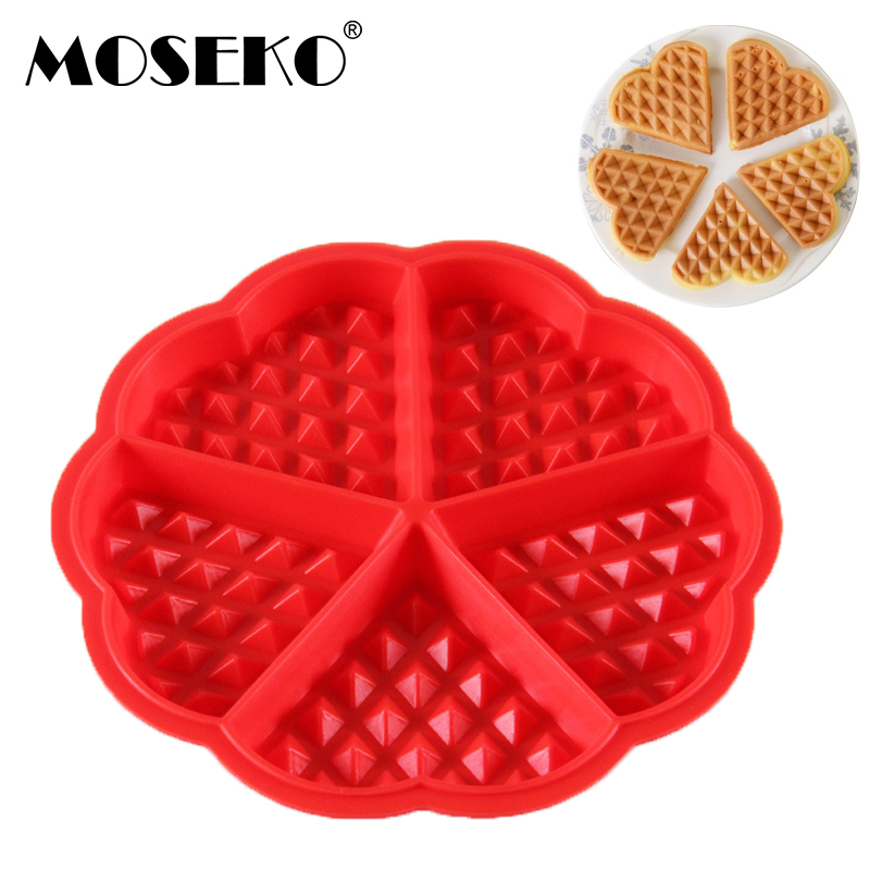 MOSEKO Silicone Cake Mould Waffle Mould Bakeware DIY Modle Kitchen Cooking Cake Makers Muffin Cookie Baking Tool