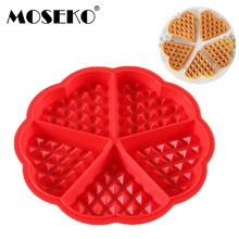 MOSEKO Silicone Cake Mould Waffle Bakeware DIY Modle Kitchen Cooking Makers Muffin Cookie Baking Tool
