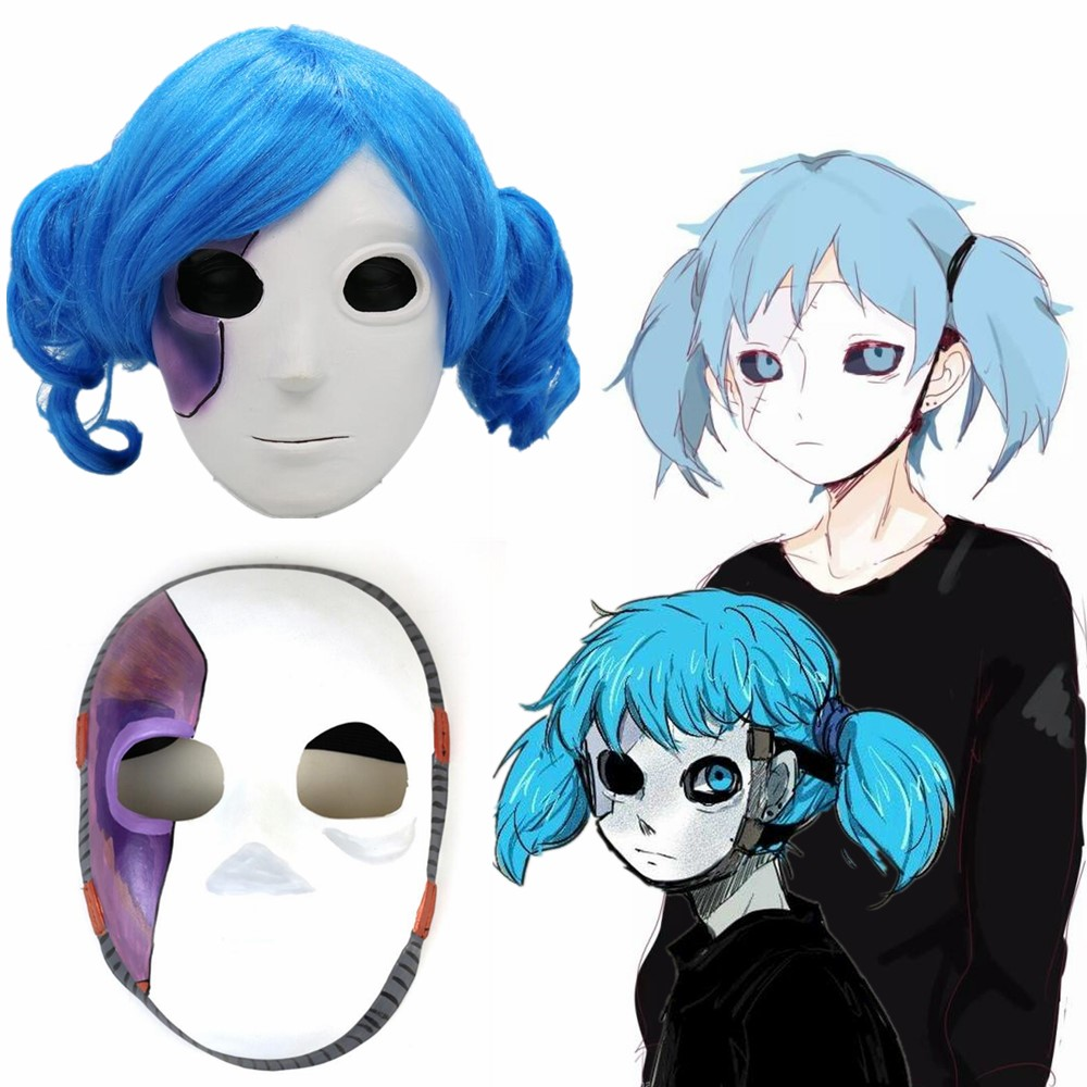 Sally Face Wig Latex Masks Game Masque Cosplay Props Halloween Cosplay Costume