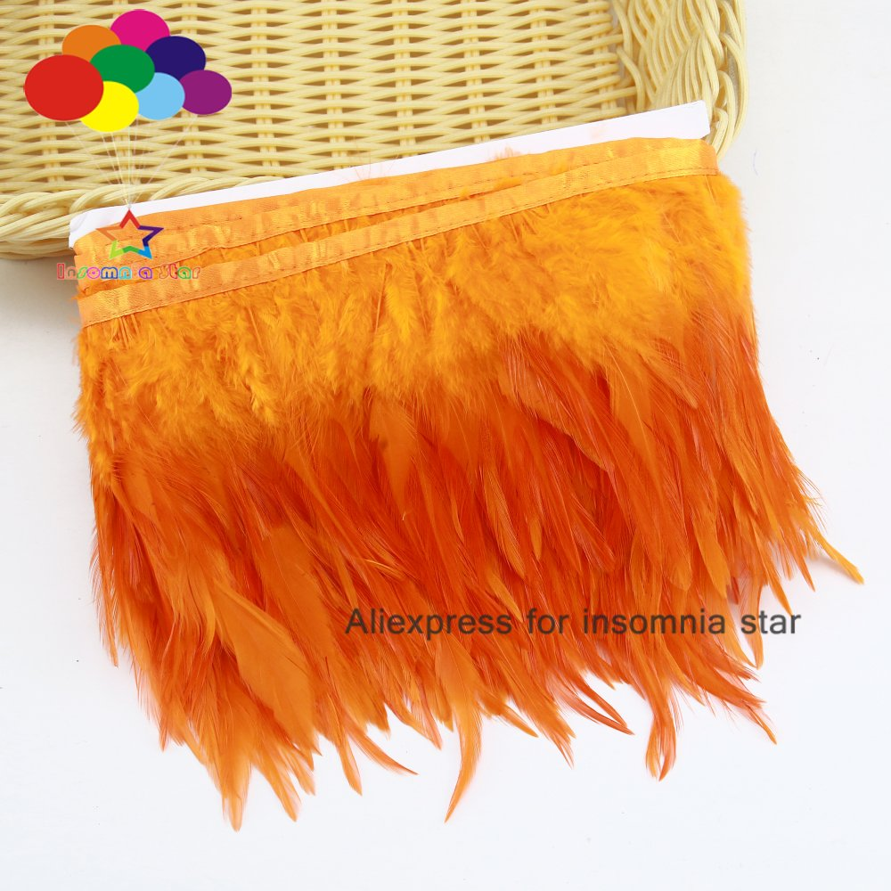 26 Colors1//10 Meter8-12cm Cock Feathers Trim Cloth Sideband Rooster Tail Feather