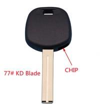 2PCS Tansponder Key Chip Case #13 #77 KD Key Blade For Toyota Camry Lexus With TOY48 Key Blade Spare Car Key Locksmith Tool