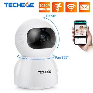 IP-камера видеонаблюдения Techege, 1080P, двухстороннее аудио, беспроводная мини-камера ночного видения, Wi-Fi, видеоняня, iCsee