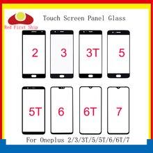 10 Teile/los Für Oneplus 2/3/3T/5/5T/6/6T/7 7T Touch Screen Panel Front Outer Glas Objektiv Für Oneplus 1 + 6 6T LCD Glas ersatz