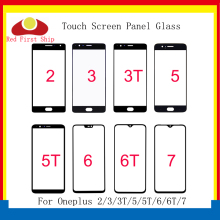 10Pcs/lot For Oneplus 2/3/3T/5/5T/6/6T/7 7T Touch Screen Panel Front Outer Glass Lens For Oneplus 1+ 6 6T LCD Glass Replacement