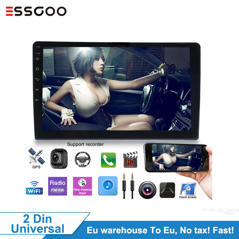 10.1 Android 2GB/1GB Auto Multimedia-Player GPS Navigation WIFI Autoradio Bluetooth Auto Radio Spiegel Link 2Din Audio Stereo MP5
