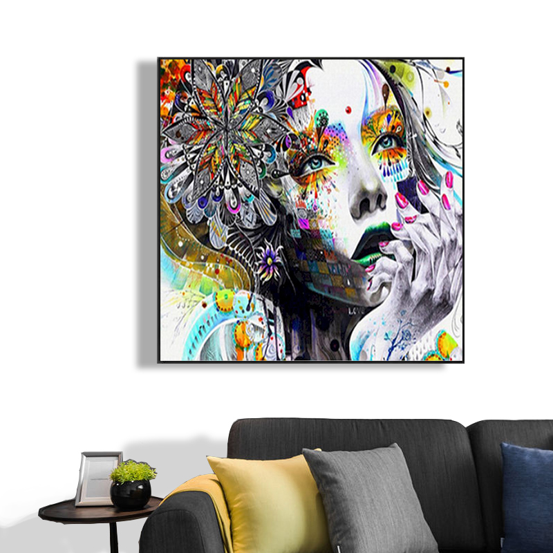 60x75 Painting By Numbers DIY Oil Painting Abstract Girl Canvas Wedding Decoration Art Picture Gift For Children Home Decor Gift-1