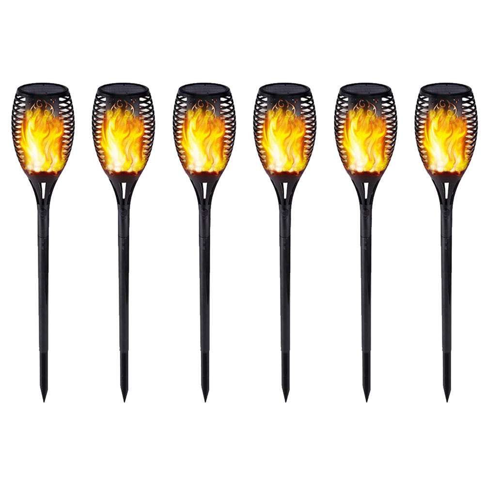 2/6pcs Outdoor Garden Solar Flame Light Waterproof LED Torch Lamp Flickering Flame Solar Lights Courtyard Garden Decoration