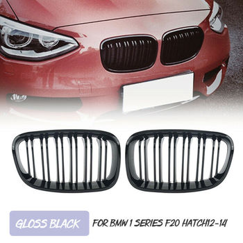 Sport Kidney Grill Grille Dual Slat For BMW F20 F21 1 Series 2011-2014 Hatchback