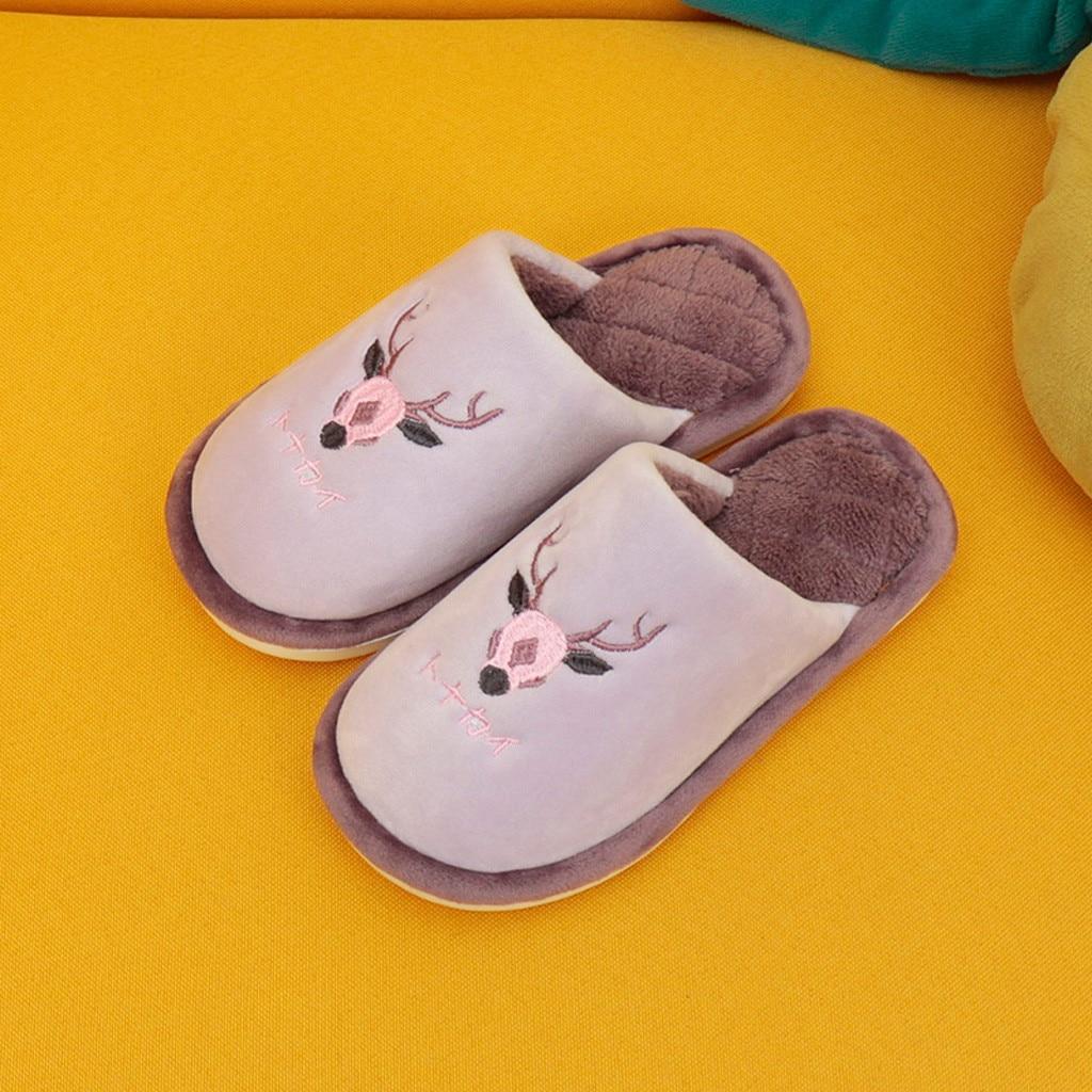 Jaycosin Men Women Winter home slippers women Non-slip Indoors Bedroom Floor Warm Shoes Anti-slip Floor Bedroom Shoes slides 10 2