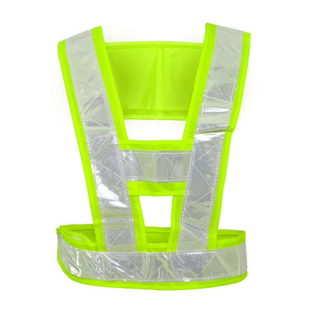 Reflective Belt Reflector Clothing High Visibility Traffic Safety Reflective Vest V-type Outdoor Running Walking Work Vests