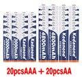 2020 100% новинка 1,2 в 4800 мач NI MH AA перезаряжаемые батареи + AAA батарея 3000 мач перезаряжаемая батарея NI-MH 1,2 в AAA батарея