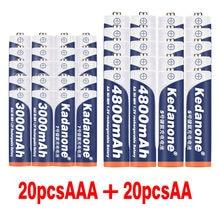 2020 100% nowy 1.2 V 4800mAh NI MH AA akumulatory + bateria AAA 3000 mAh akumulator NI-MH 1.2 V AAA
