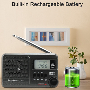 Image 5 - RETEKESS TR601 Digital Alarm Clock Radio DSP/FM/AM/SW Radio Receiver  Mp3 Player 9K/10K Tuning Micro SD Card and USB Audio Input